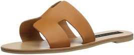Steven by Steve Madden Greece Flat Sandals Slides Cognac Leather Size 6.5 - $76.40