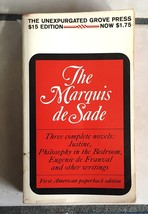 THE MARQUIS de SADE three complete novels  Grove Press 1st US Paperback - $21.56