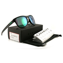 Oakley Silver R Men's Sunglasses OO9342 05 Matte Black/Jade Iridium 57 17 140 - $92.00