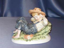 Huckleberry Boy Sleeping by Lefton. - $32.00