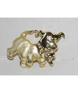 """Puppy Dog Carrying Shoe Pin Brooch Meesco Fashion Jewelry 1.5""""x1"""" Gold T... - $14.80"""
