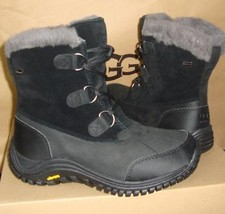Ugg Ostrander Black Waterproof Leather Snow Boots Size Us 7, Eu 38 New #1008125 - $108.89