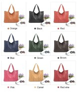 Women's Fashion Real leather pocket package handbag valise pack bag Tote - $48.85