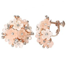 Yoursfs Clip on Earrings For Women Mental 18K Rose/White Gold Plated Non... - $17.86
