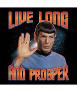 Classic Star Trek Spock Live Long and Prosper Vulcan Salute T-Shirt XXXL... - $26.11