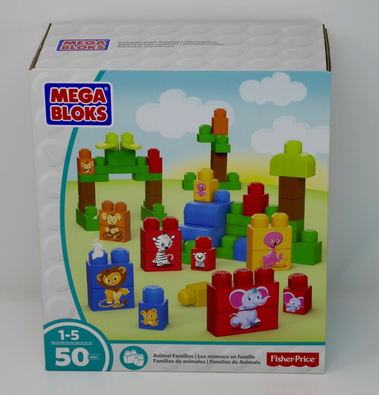 Primary image for Mega Bloks First Builder 50 pc Animal Families Toys Building Blocks SEALED