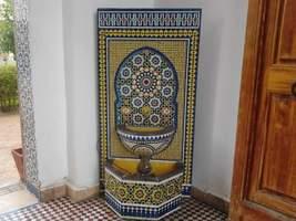 Mosaic fountain.fountain length:110cm.fountain width:80cm.fountain tradi... - $3,500.00