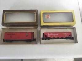 NOS Model Power HO Scale Burlington Train Cars Lot of 2 - $12.09
