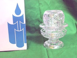 Partylite Salzburg 3pc Candle Holder Set 24% Lead Crystal Pillar Taper V... - $34.97