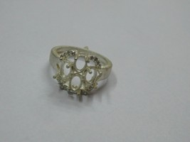 925 sterling Silver mount Ring,Oval 6X4 mm, RI-0126,ring,all size available - $11.50