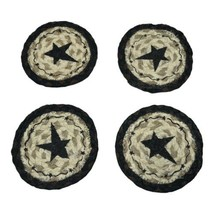 Earth Rugs Round Star Coaster Set of 4 - $12.99