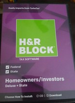 H&R Block Deluxe + State 2018 Homeowners/Investors Tax Software Disc - $14.80
