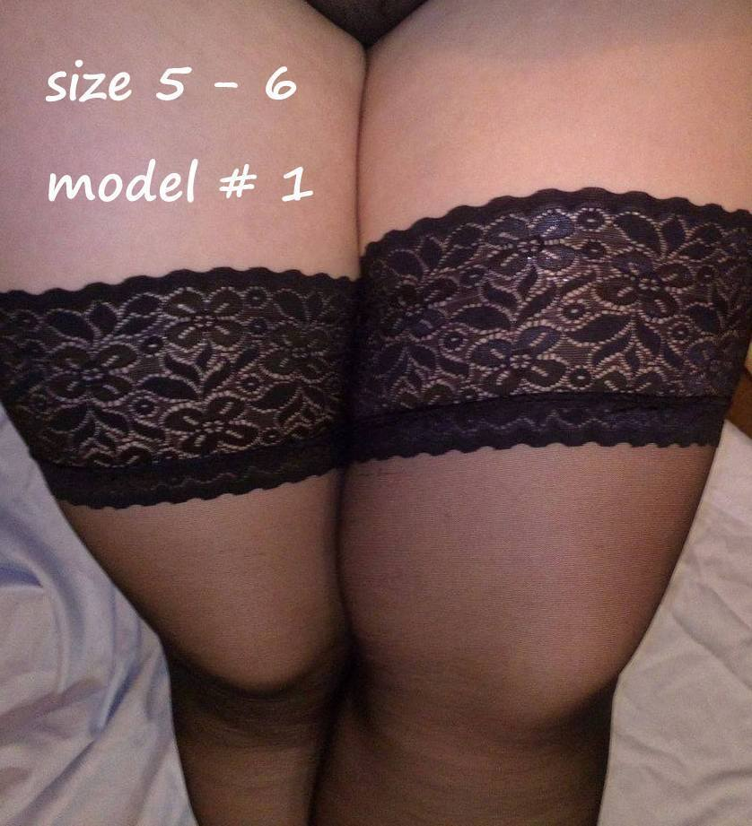 a9c13cd88e3e4 NEW sexy lace stockings Hold Ups Stay-up also PLUS SIZE 1-2 3