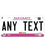 Nayarit Mexico Any Name Number Novelty Auto Car License Plate C06 - $14.80