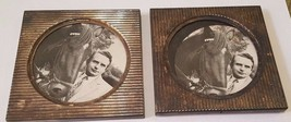 """Pair of Vintage 4"""" Square TOWLE Silverplate Coasters with HORSES - $14.36"""