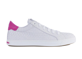 Dsquared2 Men's White Snakeskin Embossed Leather Sneakers IT40.5/US7.5 R... - $249.96