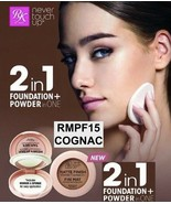 RK BY KISS NEVER TOUCH UP MATTE FINISH POWDER FOUNDATION #RMPF15 COGNAC - $4.70