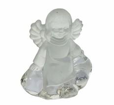 Goebel Hummel figurine vtg West Germany Glass angel clouds Crystal Chris... - $39.55