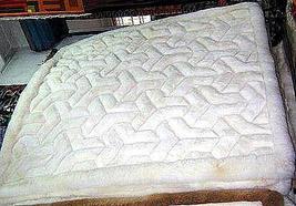 White alpaca fur rug from Peru mit Y designs, 190 x 140 cm - $501.10