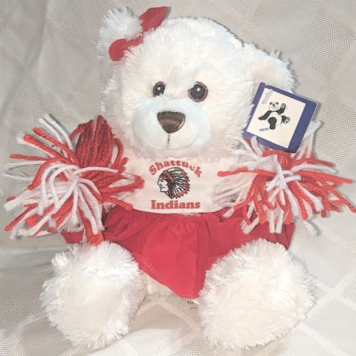 Steven Smith Stuffed Animals INC PA7563RC Shattuck Indians Cheerleader Bear