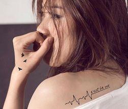 Arm Temporary Tattoos Art Sticker Waterproof Women Small Birds Fly image 4