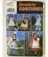 Simplicity Costumes for Kids 8234 Size AA,3,4,5,6 Little Bo Peep - $7.92