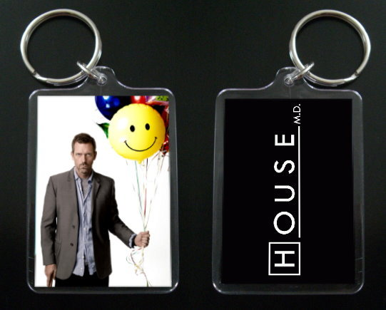 Primary image for  HOUSE MD keychain / keyring HUGH LAURIE Dr Greg House #11