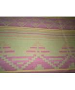 "Vintage Wool Camping Blanket 76""L x 70""W Southwestern Indian Motif - $74.99"