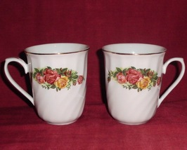 Mug Regent China English Rose Coffee Tea Flora Design Set 2 - $25.00