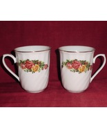 Mug Regent China English Rose Coffee Tea Flora Design Set 2 - $25.00