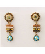 Signed ADAYA Maya Rayten Micro Mosaic Earrings - $39.00