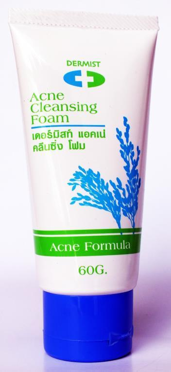 NEW DERMIST ACNE GABA CLEANSING FOAM TEA TREE LEAF BEARBERRY OILY SKIN 60g EXP22 image 4