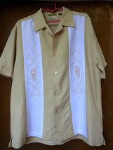Cubavera Mens Short Sleeve Shirt Golf Embr. Heritage Fit Button-Down Siz... - $9.80