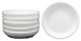 White Porcelain Contemporary Condiments Soy Sauce Dipping Plate or Dish ... - $13.99