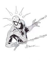 Alex Saviuk Original Marvel Comic Art Sketch ~ The Amazing Spiderman - £147.24 GBP