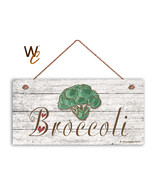 """Broccoli Sign, Rustic Style Garden Sign,  5"""" x 10"""" Wood Vegetable Sign, ... - $12.87"""