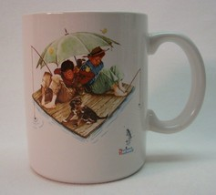 VINTAGE 1987 Norman Rockwell Museum FISHERMAN'S PARADISE BOYS FISHING MU... - $14.85