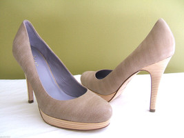 NEW! Cole Haan Gorgeous Embossed Leather Pumps Classic Sexy Tan Heels 10 B $218 - $74.40