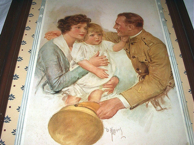 1919 Home Coming-WWI Soldier,Wife,Daughter-C.D.WILLIAMS