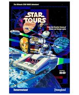 "Star Wars Disneyland / Tomorrowland ""STAR TOURS"" Ad Stand-Up Display - S... - $16.99"