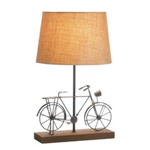 Rustic Desk Lamp, Brown Iron Rustic Bedside Contemporary Desk Lamp Art - $53.58