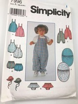 1997 Simplicity Babies Layette includes Bunting, Jumper, Romper, panties and Hat - $6.30