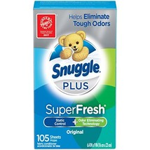 Snuggle Plus Super Fresh Fabric Softener Dryer Sheets with Static Contro... - $5.50