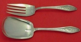 """Mary Chilton Engraved  #1 by Towle Sterling Silver Salad Serving Set 9"""" 2pc Fhas - $289.00"""