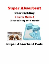 600-SUPER ABSORBENT Quilted 5-Layer Puppy Piddle Pee Pads Reusable up to... - $75.00