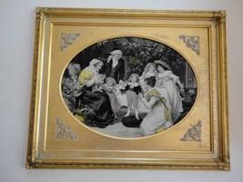 "Antique Rare Framed S P Solomons Decorative Art Co NY Tapestry 18 1/4"" x... - $77.51"