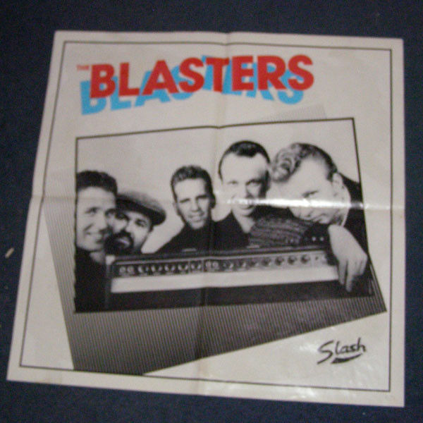 Blasters first LP Slash promo poster 1980s