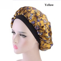 Women Wide Band Satin Warp Knitting Cloth Bonnet Cap Comfortable Night S... - $7.95