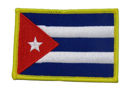 Cuba Cuban Country Flag Wholesale lot of 3 Iron On Patch - $22.00