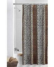 Ombre Cheetah Black Brown Fabric Shower Curtain